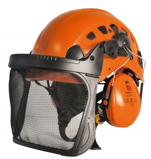 "Produktbild ""Petzl Forst-Helmkombination orange"""
